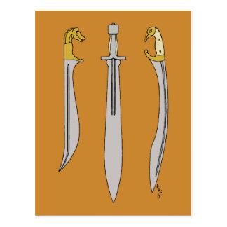 Ancient Greek Blades Postcard