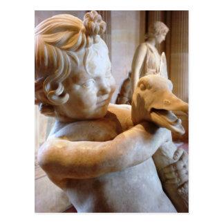 Ancient Greek Boy with Goose Postcard