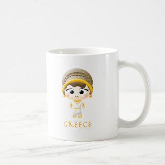 Ancient Greek Girl Basic White Mug