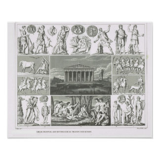 Ancient Greek legendary figures Poster
