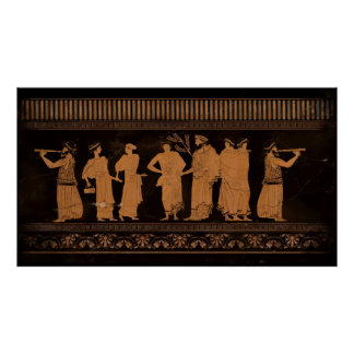 Ancient Greek Mural Poster
