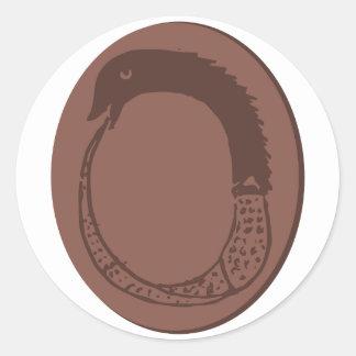 Ancient Greek Ouroboros Round Sticker