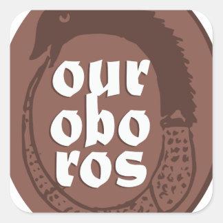 Ancient Greek Ouroboros Square Sticker