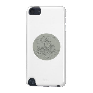 Ancient Greek Trireme Warship Circle Drawing iPod Touch (5th Generation) Cover