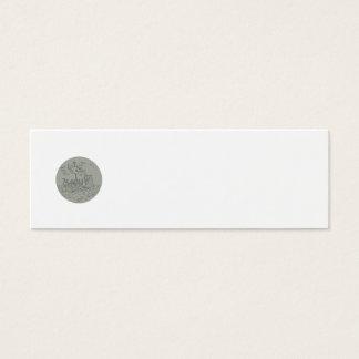 Ancient Greek Trireme Warship Circle Drawing Mini Business Card