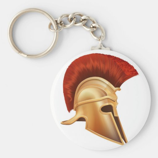 Ancient Greek Warrior Helmet Key Chain