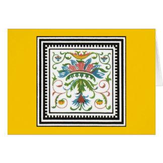 Ancient Italian Ornament Card