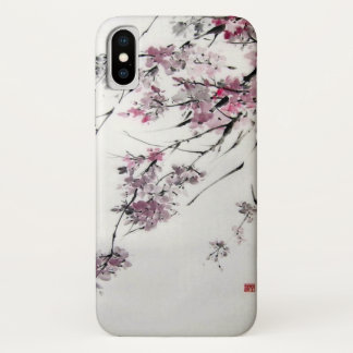 Ancient Japanese Cherry Blossoms Watercolor iPhone X Case