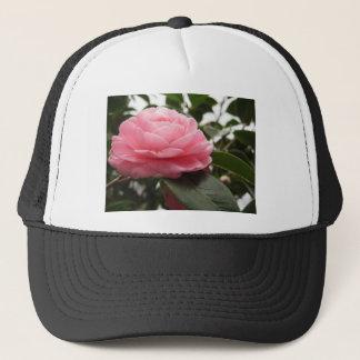 Ancient japanese cultivar of pink Camellia Trucker Hat