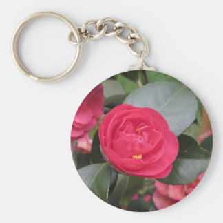 Ancient japanese cultivar of red Camellia japonica Key Ring
