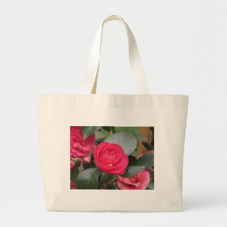 Ancient japanese cultivar of red Camellia japonica Large Tote Bag