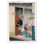 Ancient Japanese Demon Painting Greeting Card