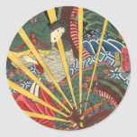 Ancient Japanese Dragon Painting circa 1860's Sticker