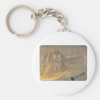 Ancient Japanese Ghost/Demon Painting Basic Round Button Key Ring