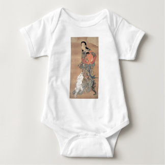 Ancient Japanese Painting Baby Bodysuit