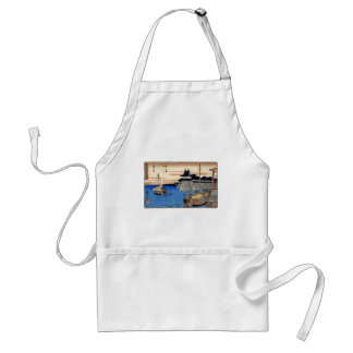 Ancient Japanese Painting Circa 1800's Adult Apron