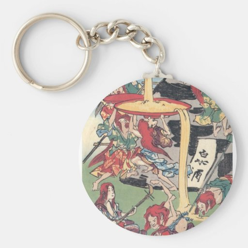 Ancient Japanese Painting Key Chains