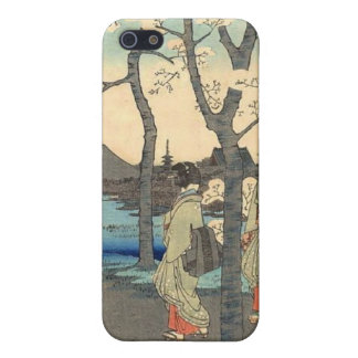 Ancient Japanese Women under Cherry Blossoms Case For iPhone 5/5S