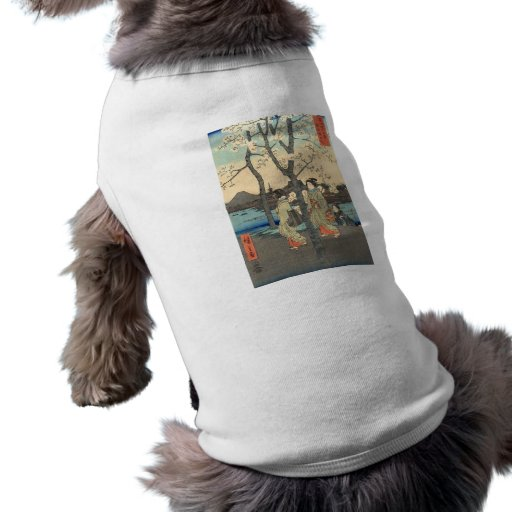 Ancient Japanese Women under Cherry Blossoms Doggie T-shirt
