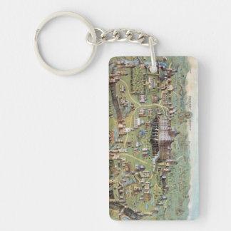 ANCIENT JERUSALEM Double-Sided RECTANGULAR ACRYLIC KEY RING