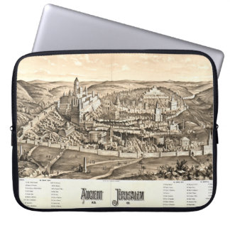 Ancient Jerusalem Map 65ad Computer Sleeves