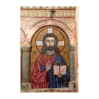 Ancient Jesus Mosaic Acrylic Wall Art