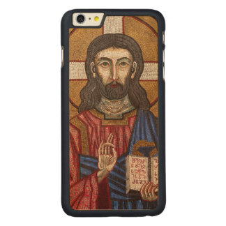 Ancient Jesus Mosaic Carved Maple iPhone 6 Plus Case