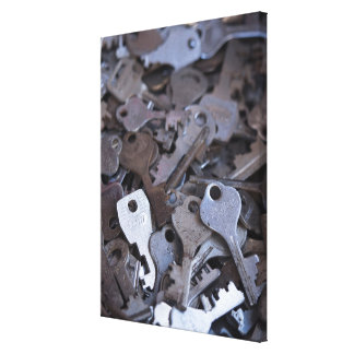 Ancient Key Collection Canvas Print