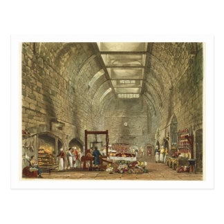 Ancient Kitchen, Windsor Castle, engraved by Willi Postcard