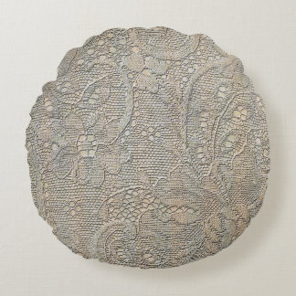 Ancient lace Round Pillow