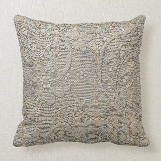 Ancient lace Throw Pillow