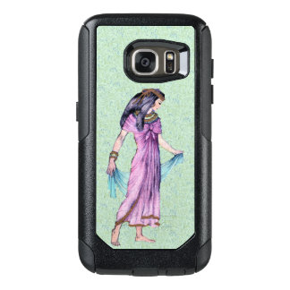 Ancient Lady from Egypt Gold Trimmed Purple dress OtterBox Samsung Galaxy S7 Case