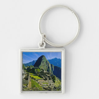 Ancient Machu Picchu, last refuge of the 2 Silver-Colored Square Key Ring