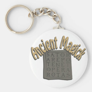 Ancient Magick Basic Round Button Key Ring