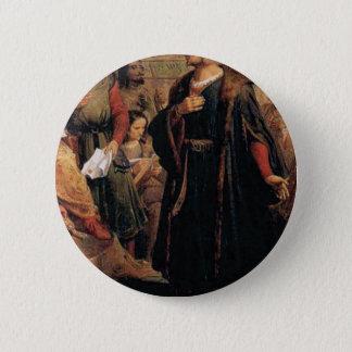 ancient man in black robe 6 cm round badge