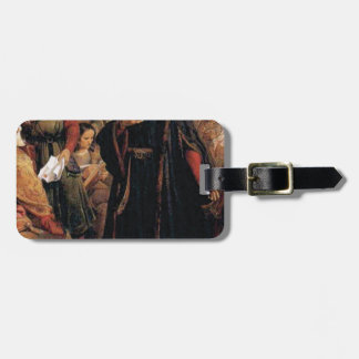 ancient man in black robe luggage tag