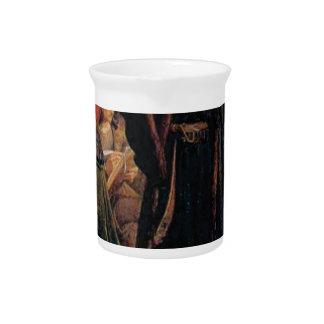ancient man in black robe pitcher