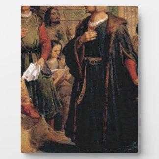 ancient man in black robe plaque