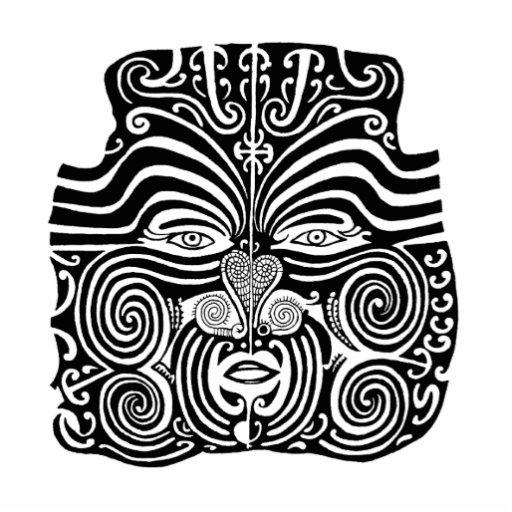 Ancient Maori Moko tribal tattoo design. Photo Sculpture