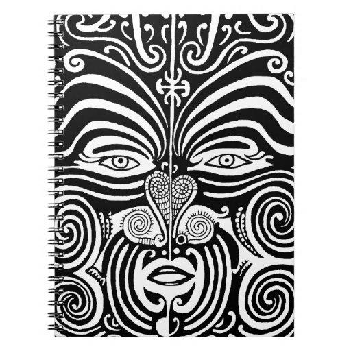 Ancient Maori Tribal Tattoo (Moko) Design Spiral Note