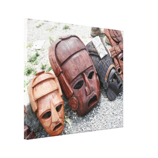 Ancient Masks - Mexico Decorative Culture Canvas Print