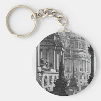 Ancient mausoleum erected to the ashes of a Roman Basic Round Button Key Ring