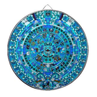 Ancient Maya Dartboard - Mayan Aztec Calendar Art