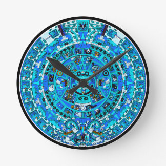 Ancient Mayan Maya Calendar Symbol Wall Clock ~