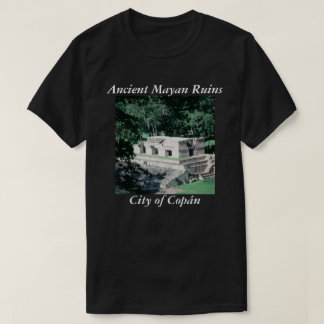 Ancient Mayan Ruins Copan Photo Designed T-Shirt