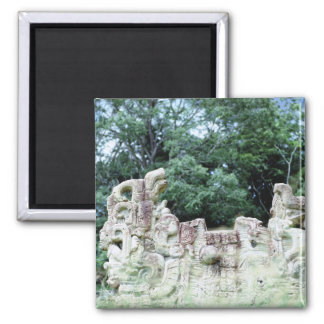 Ancient Mayan Ruins Culture Fancy Photo Designed Magnet