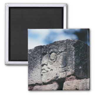 Ancient Mayan Ruins Photo Designed Color Magnet