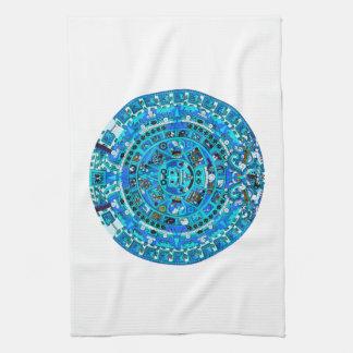 Ancient Mayan Sun Calendar Symbol Hand Towel