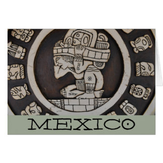 Ancient Mayan Warrior customized Mexico Card
