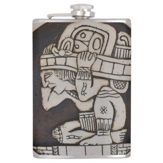 Ancient Mayan Warrior Hip Flask